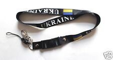 Ukraine Keychain Lanyard Ukrainian Flag Black Color Football Soccer