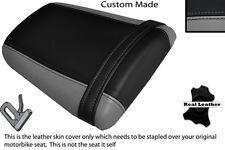 Gris Y Negro Custom encaja Honda Cbr 600 Rr5 rr6 05-06 Trasera de piel cubierta de asiento