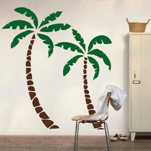 Image Is Loading Palm Tree Wall Decal Beach Wallpaper Seaside Coconut