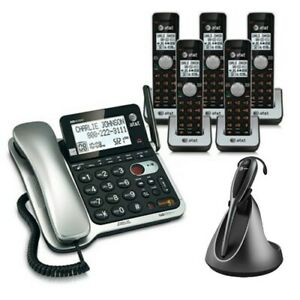 3 TL86009 AT/&T TL86109 + TL8900 DECT 6.0 Corded//Cordless Phone with Headset