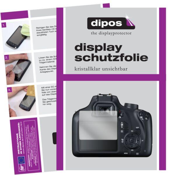 6x Canon Eos 2000d Film De Protection D'écran Protecteur Clair Dipos