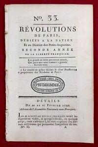 Papiers-de-la-Bastille-1790-Loi-Martiale-Favras-Ohio-USA-Revolution-Francaise