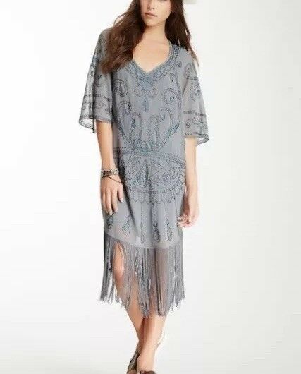 Free People Livin' the Fringe Life Shift Dress NWT Size Small