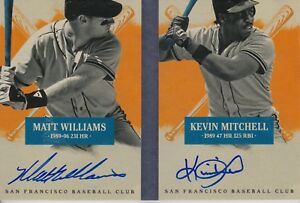 MATT-WILLIAMS-KEVIN-MITCHELL-2013-Panini-America-039-s-Pastime-Ink-Autograph-D2923