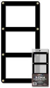 BCW-Black-Border-Screwdown-Triple-Card-Standard-Trading-Card-Holder-Qty-1