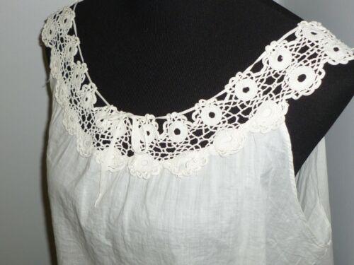 Antique Victorian Camisole Vintage 1900s Cotton B… - image 1