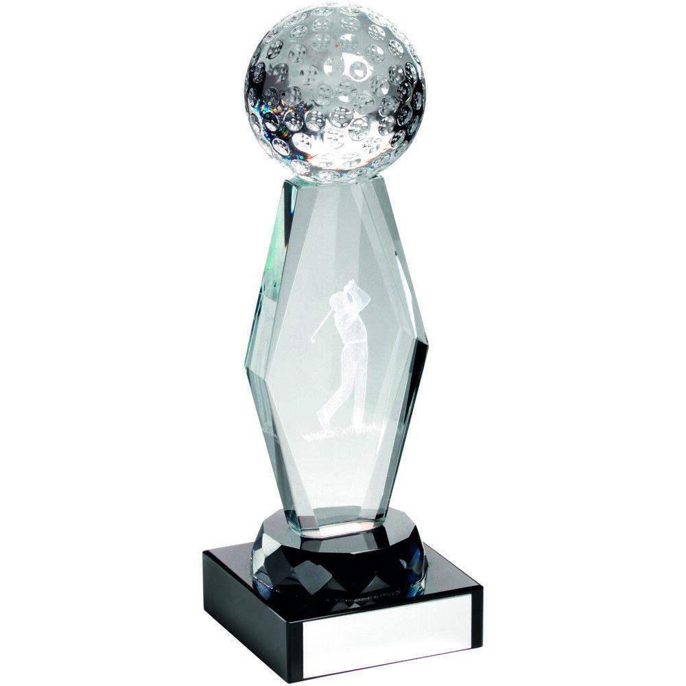GOLF Diamante Vidrio Vidrio Vidrio PREMIO 3d LASER Balanceo Golfista Trofeo Grabado Gratis & c054fd