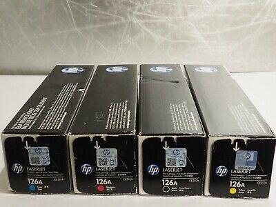 4 sets Virgin Genuine Empty HP CE310A CE313A Toner Cartridges FREE SHIP 126A