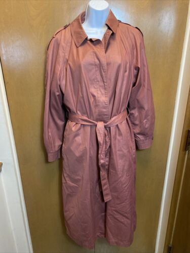 Misty Harbor Wool Blend Womens Trench Coat Size 14