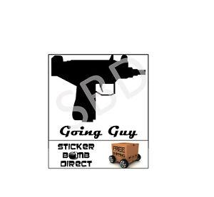 PANDA with GUN UZI Vinyl Die Cut Decal Bumper Car Window for Off Road 4x4 FY008