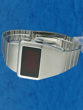 Rare old style modern futuristic 70s seventies space age mens led l.e.d watch 13