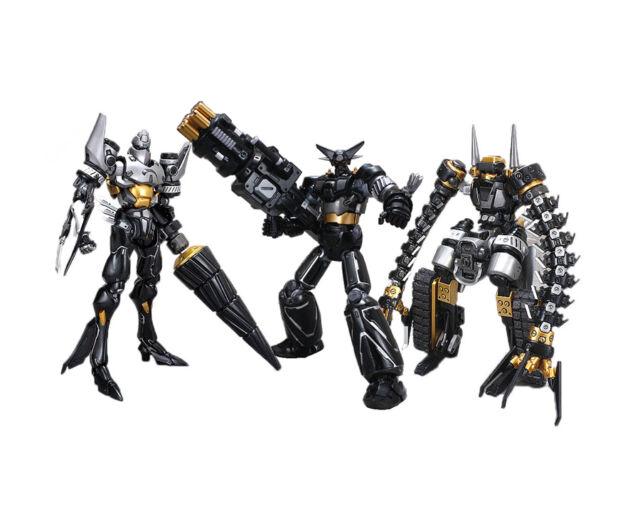 FEWTURE EX GOKIN GETTER ROBOT 1-2-3 BLACK  REPAINT + GUN MACHINE LIMITED EDITION