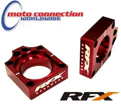 RFX Rear Axle Blocks Honda Red CR125 CR250 CRF250 CRF450 02-08 FXAB10100