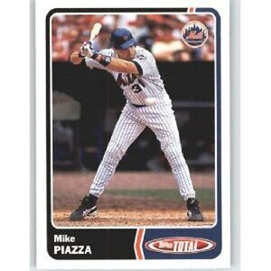 Details About 2003 Topps Total Baseball New York Mets Team Set 27 Cards Mike Piazza