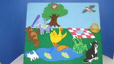 Maurie Sendak's Little Bear felt board Toy Hop Frog pond play set cat duck party