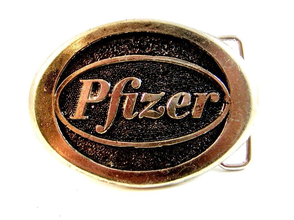 1970's-80's Pfizer Hebilla de Cinturón Por Frank's Productos