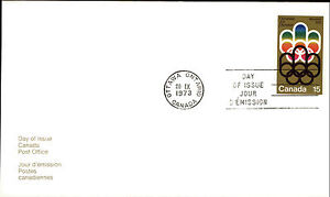 CANADA-First-Day-of-Issue-Cover-Brief-FDC-Stamp-Olympiade-Montreal-15-Cent-Marke