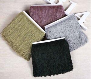 Glitter-Tassel-Fringe-Fringing-Trim-Metallic-20cm-8-034-15-DIFFERENT-COLOURS