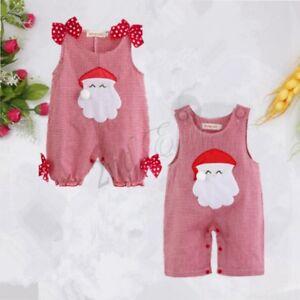7643d80d4 Newborn Baby Boy Girl Christmas Santa Claus Costume Outfit Xmas ...