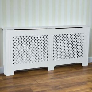 Image Is Loading Radiator Cover Traditional White Extra Large Mdf Clic