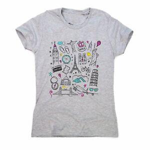 Travel-t-shirt-women-039-s-motivational-t-shirt