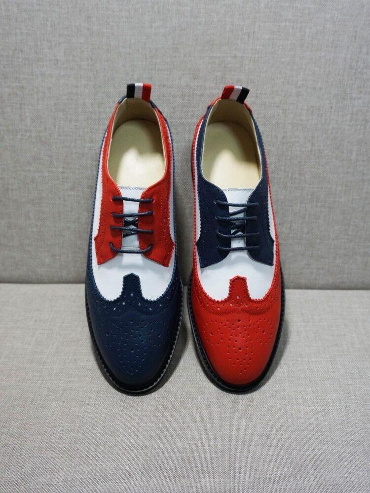 Mujeres Cuero Con Cordones Cordones Cordones Casual Brogue Tallado compuesta Oxfords Plana Zapatos transpirables  Entrega rápida y envío gratis en todos los pedidos.