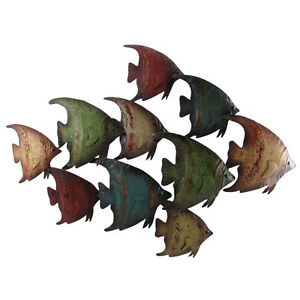 Deco 79 metal fish wall decor home decor and design 26 by for Plaque metal deco pour mur