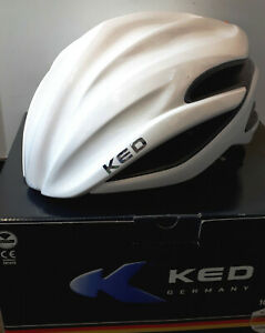 KED-Wayron-Race-white-weiss-Rennradhelm-Gr-L-57-61cm-geschlossen-ohne-Lueftung