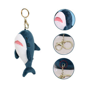 AU-KF-Soft-Plush-Cartoon-Shark-Keychain-Bag-Pendant-Key-Rings-Hanging-Ornament
