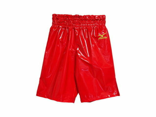 MIZUNO Boxing Trunks Pants Long type made in JAPAN Red Enamel F//S from JPN NEW