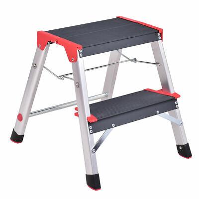 New Aluminum Ladder 3 Step Folding Platform Work Stool Lightweight Home Kitchen