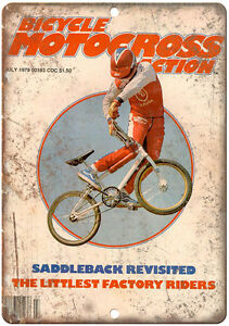 """10/"""" x 7/"""" Metal Sign Vintage Look Reproduction Patterson BMX Bicycle Motocross"""
