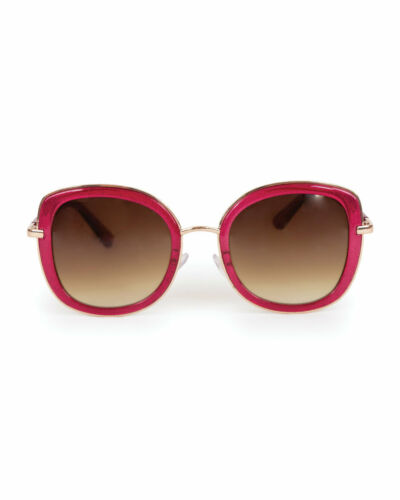 Donna Beret grandi occhiali da sole dallo stile glamour in custodia rigida in polvere design Khloe