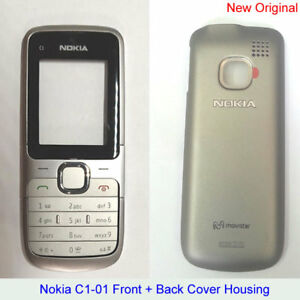 the best attitude 5d4e9 f39c1 Details about 100% Genuine New Original Nokia C1-01 Front+Back Cover+Keypad  Fascia Housing