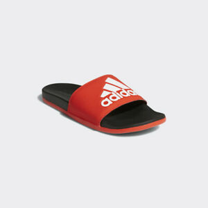 94edc9bf7f4 New Adidas Mens ADILETTE CLOUDFOAM + LOGO SLIDES RED F34722 US M 6 ...