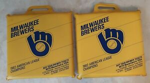 Milwaukee Brewers Seat Cushions ( 2) 1982 American League Champions