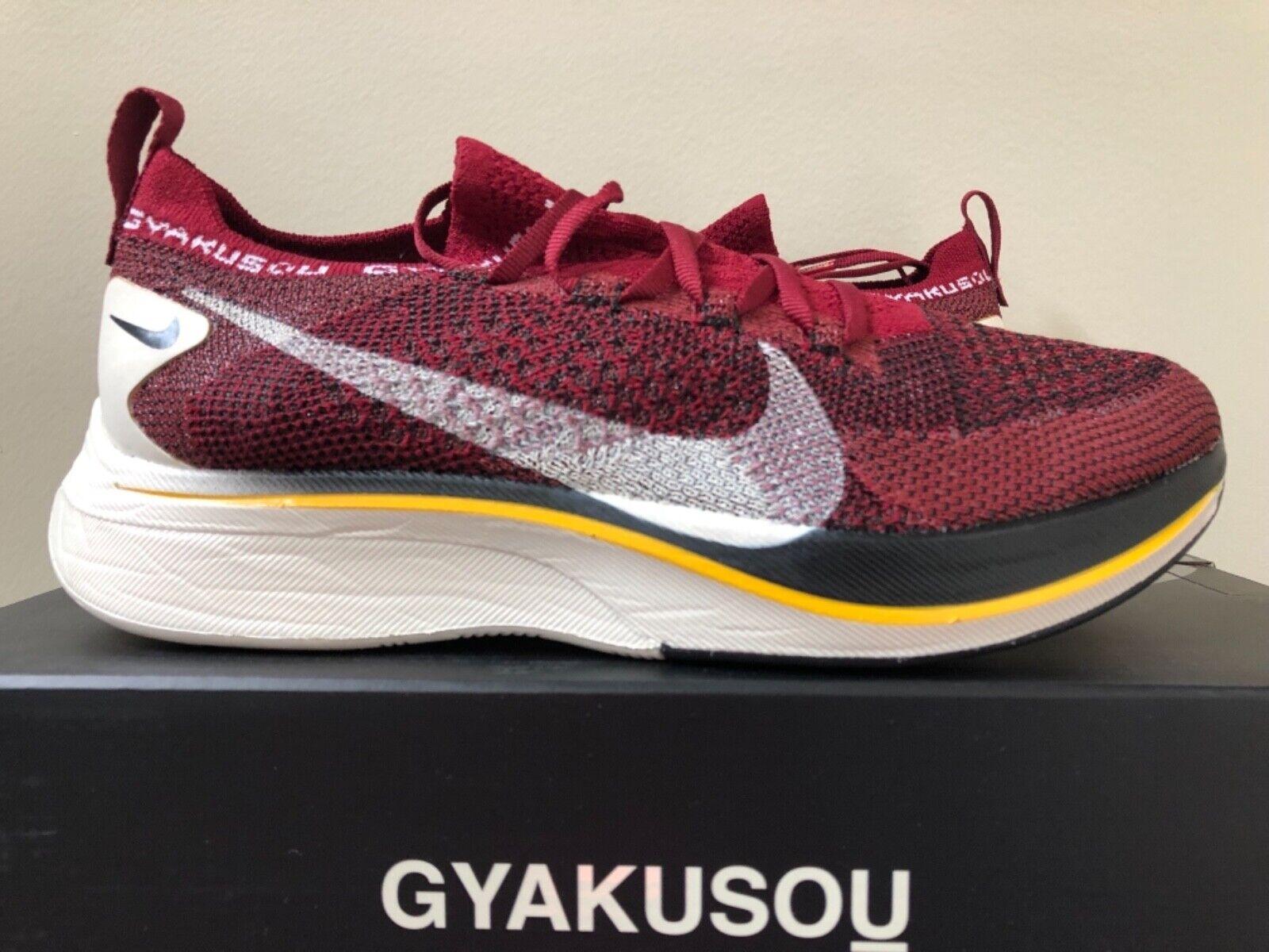 Nike Vaporfly 4% Flyknit x Gyakusou Burgundy 4-13 AV7998-600 100% Authentic