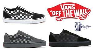 e879245c0b0b Mens Vans Ward Lo SK8 Old Skool SKATE SHOE Checkerboard Gray Black ...