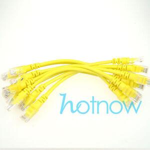 Lot 10 Cables 4inch 11cm 568b Cat5e Utp Ethernet Rj45