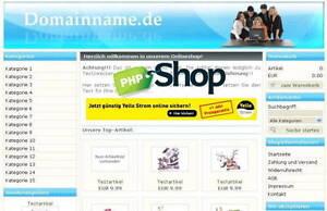 PHP SHOP SCRIPT leichte Bedienung für Kunden und Anwender E-LIZENZ zu bedienen