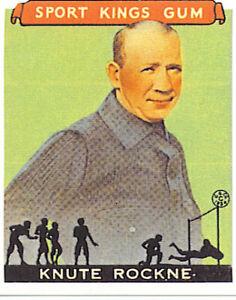 KNUTE-ROCKNE-1933-Sport-Kings-35-RP-NM-MT-NFL-Notre-Dame-Fighting-Irish