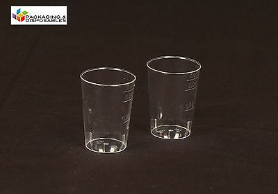 DISPOSABLE PLASTIC CLEAR 2CL SHOT JELLY GLASSES TUMBLERS PARTY SHOT CUPS
