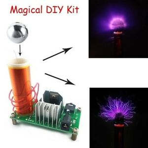 Mini-Tesla-Coil-Plasma-Speaker-Electronic-Kit-15W-DIY-Kits-With-Stainless-Ball