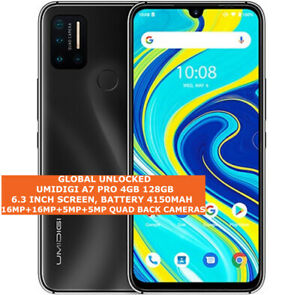 "UMIDIGI A7 PRO 4gb 128gb Octa Core 16mp Fingerprint Id 6.3"" Android 10 LTE Black"