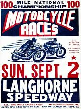 ART PRINT POSTER VINTAGE ADVERT MOTORCYCLE RACES NOFL1428