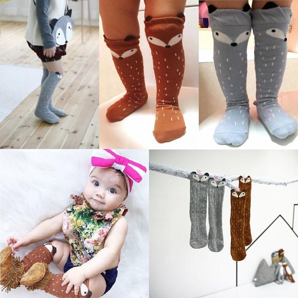 Baby Kids Toddlers Girls Knee High Socks Tights Leg Warmer Stockings Age 0-6 b15