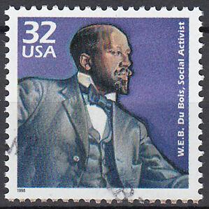 EE. UU. con sello redondo sello W. E. B. du Bois sociólogo filósofo periodista/3371