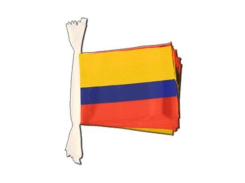 Fahnenkette Flaggenkette Girlande Kolumbien Fahnen Flaggen 15x22cm