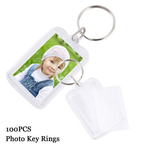 100pcs Acryl Schlüsselanhänger Schlüsselschilder 50 x 35mm Werbung Autovermiet