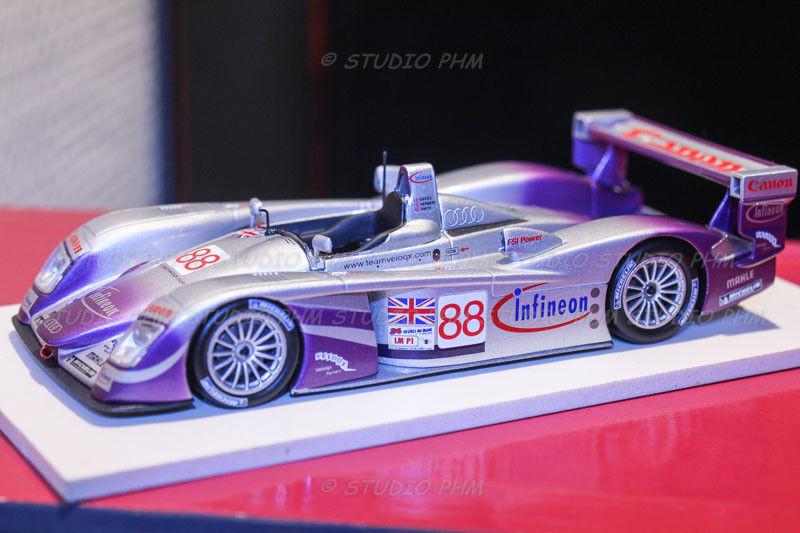 AUDI R8 N°88 AUDI Sport UK Team Velox 2° 24H MANS 2004 VERY RAR Minichamps1 43
